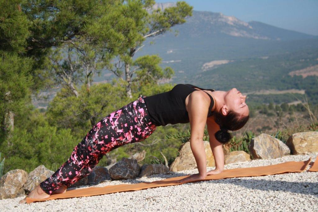 yoga vakantie in Spanje, yoga asana